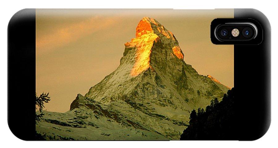 Switzerland IPhone X Case featuring the photograph Matterhorn In Switzerland by Monique's Fine Art