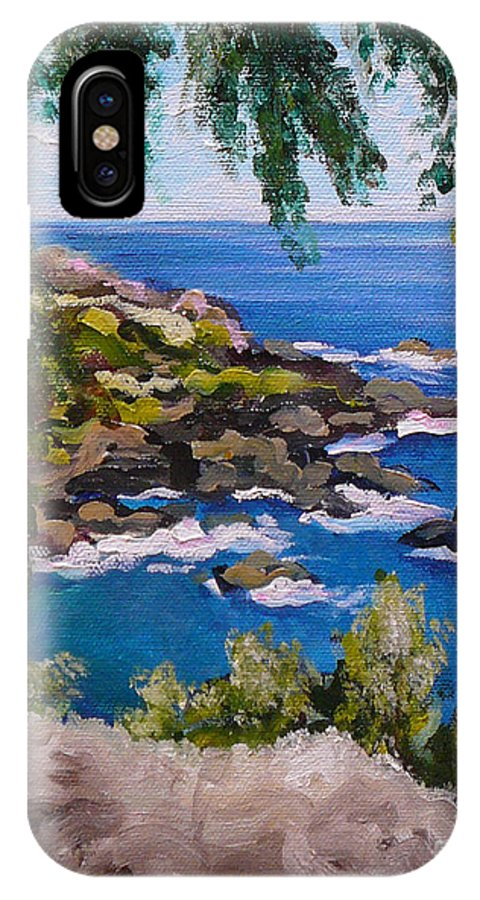 Maui IPhone Case featuring the painting Maui Cliff by Gayle Utter