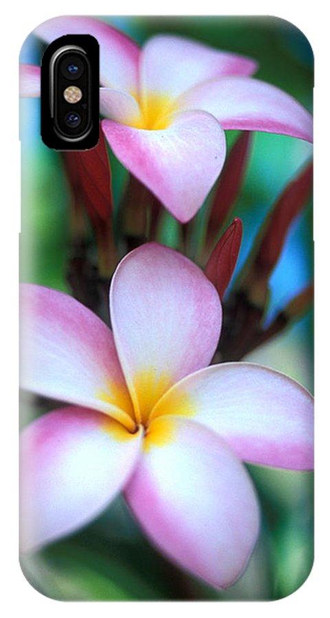 Plumeria IPhone X Case featuring the photograph Maui Plumeria by Kathy Yates
