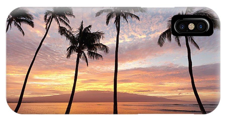 Ma'alaea IPhone X Case featuring the photograph Maui Sunrise by David Olsen