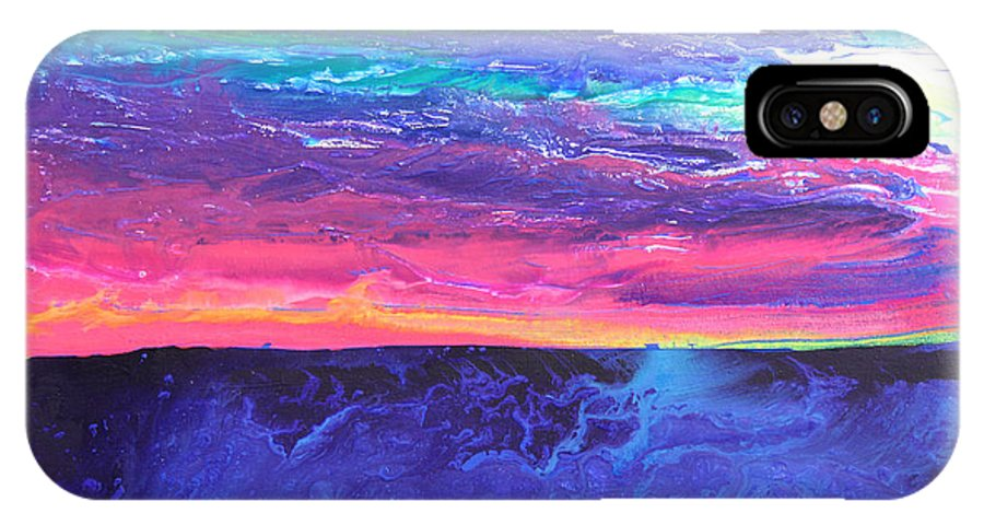 Fusionart IPhone X Case featuring the painting Maui Sunset by Ralph White