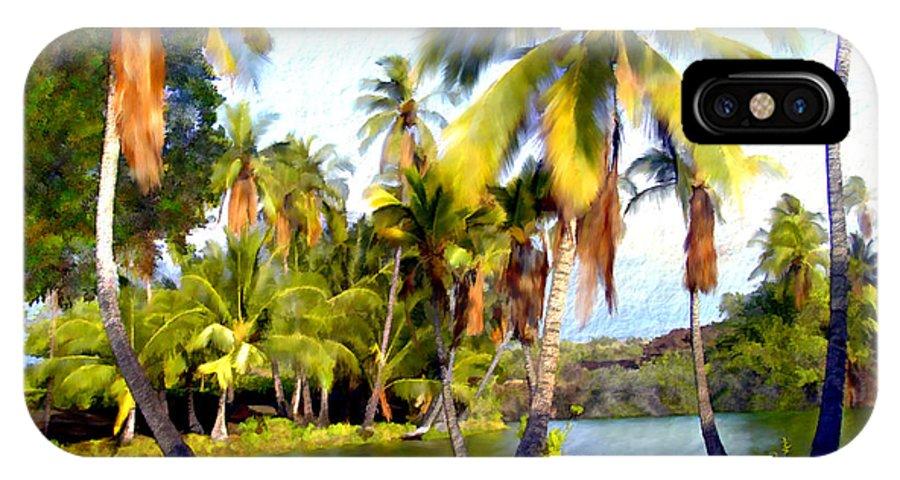 Hawaii IPhone X Case featuring the photograph Mauna Lani Fish Ponds by Kurt Van Wagner