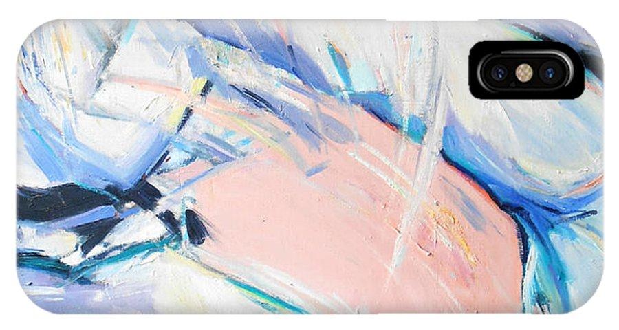 Mawashi Geri IPhone X Case featuring the painting Mawashi Geri by Lucia Hoogervorst