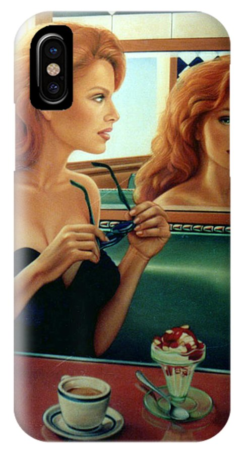 Diner IPhone X Case featuring the painting Maxine Revealed by Patrick Anthony Pierson