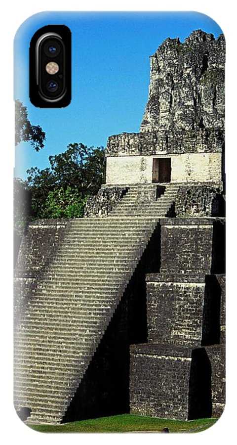 Guatemala IPhone X Case featuring the photograph Mayan Ruins - Tikal Guatemala by Juergen Weiss