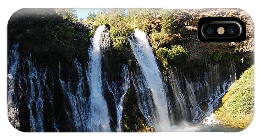 Mcarthur-burney Falls Memorial State Park IPhone X Case featuring the photograph Mcarthur-burney Falls 1 by Debra Thompson