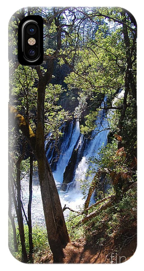 Mcarthur-burney Falls Memorial State Park IPhone X Case featuring the photograph Mcarthur-burney Falls Side View by Debra Thompson