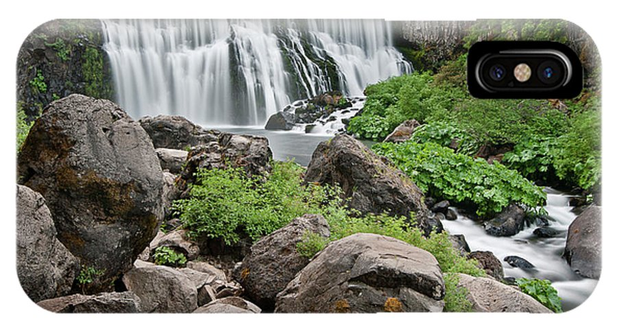 Cascades IPhone X Case featuring the photograph Mccloud Falls by Greg Nyquist