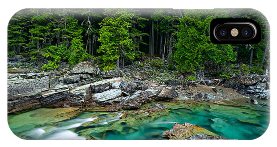 River IPhone X Case featuring the photograph Mcdonald Creek In Glacier National Park by Mark Skalny