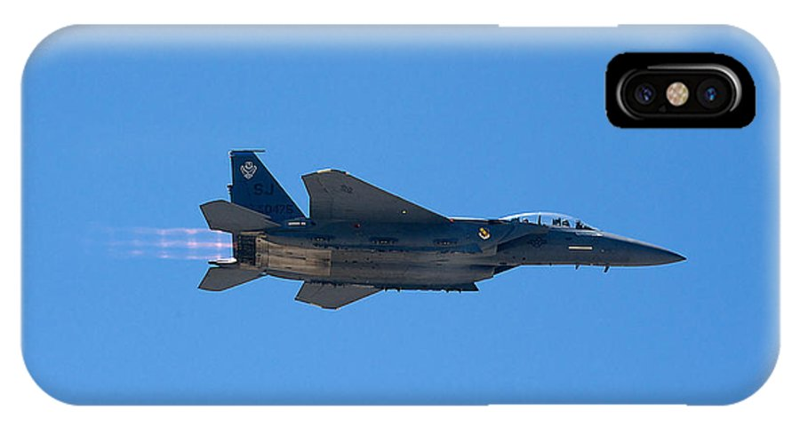 Mcdonnell Douglas F-15e Strike Eagle IPhone X / XS Case featuring the photograph Mcdonnell Douglas F 15e Strike Eagle by Richard J Cassato