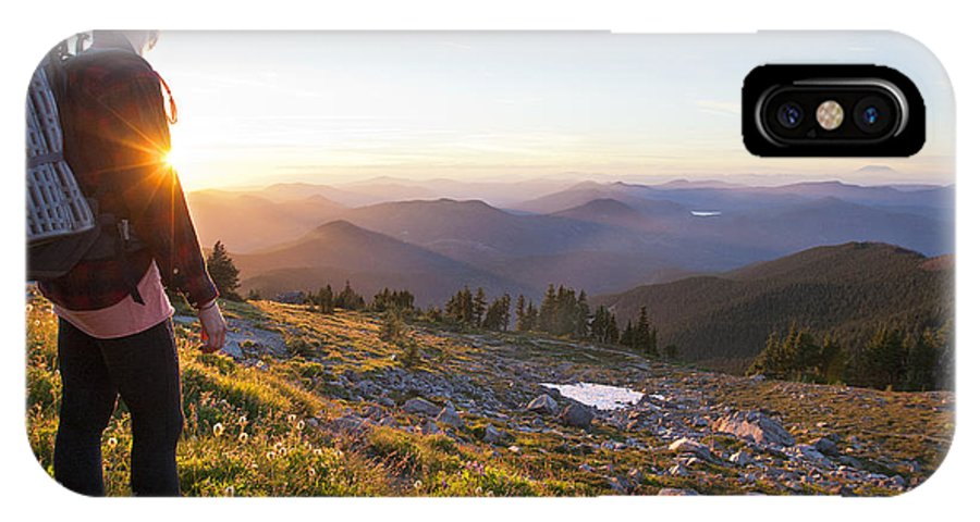 Beautiful IPhone X Case featuring the photograph Mcneil Point Backpacker by Jesse Merz