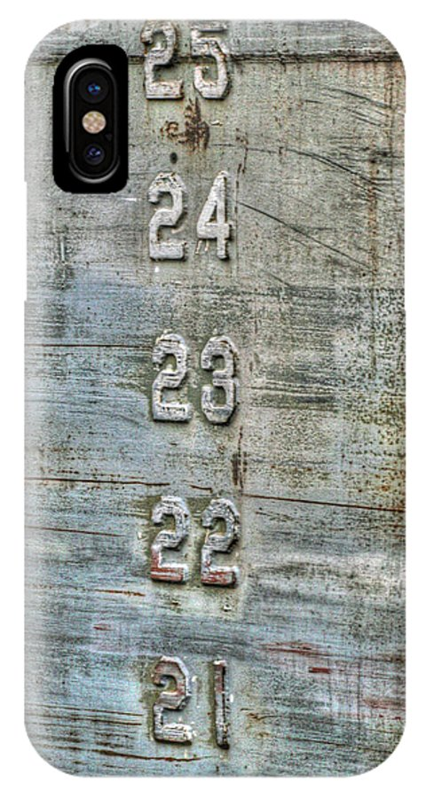 Ship IPhone X Case featuring the photograph Measure Of Draft by Michael Allen