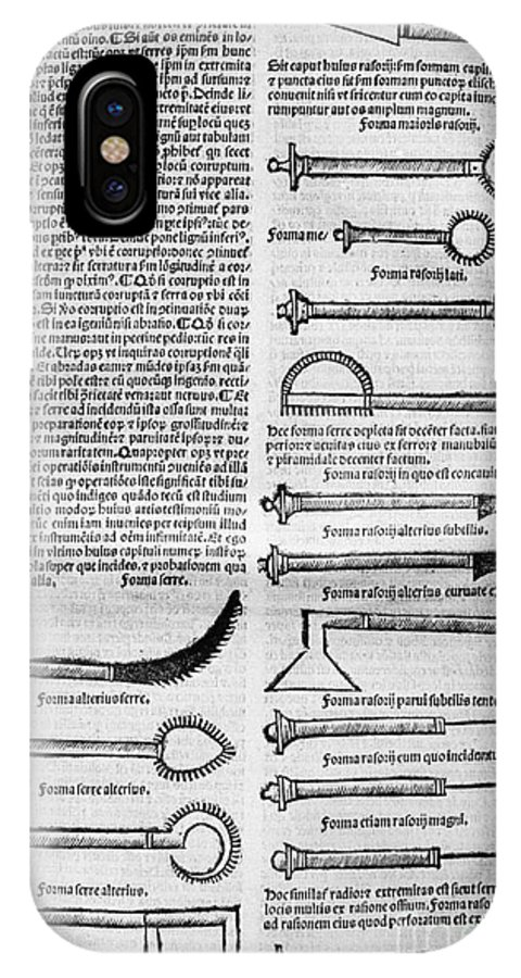 10th Century IPhone X Case featuring the photograph Medical Instruments, 1531 by Granger