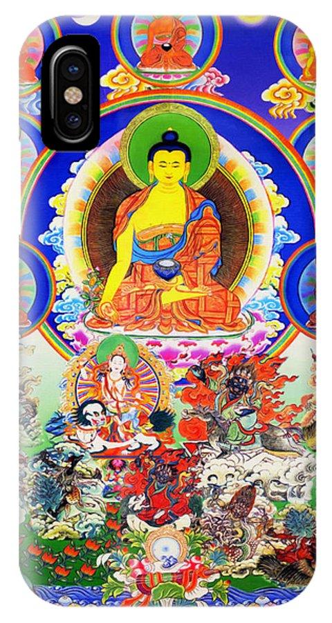 Medicine Buddha IPhone X Case featuring the photograph Medicine Buddha 12 by Jeelan Clark