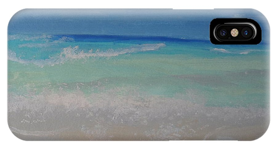 Ocean IPhone X Case featuring the painting Meditate By The Sea 1 by Bobbi Groves