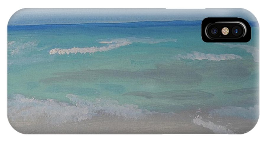 Ocean IPhone X Case featuring the painting Meditation By The Sea 2 by Bobbi Groves
