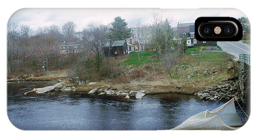 Commercial Fisheries IPhone X Case featuring the photograph Medomak River, Waldoboro,maine by Nance Trueworthy