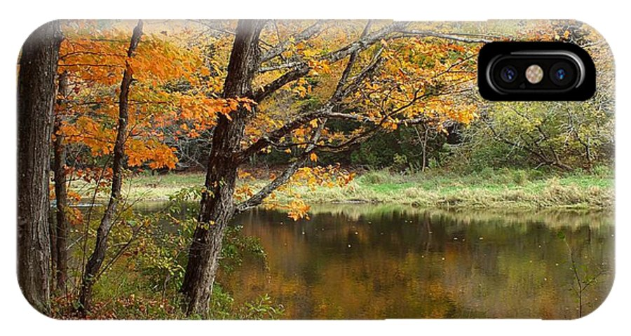 New England IPhone X Case featuring the photograph Meduxnekeag River 1 by Gene Cyr