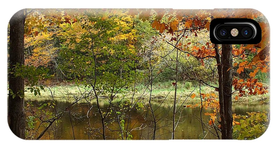 New England IPhone X Case featuring the photograph Meduxnekeag River 2 by Gene Cyr