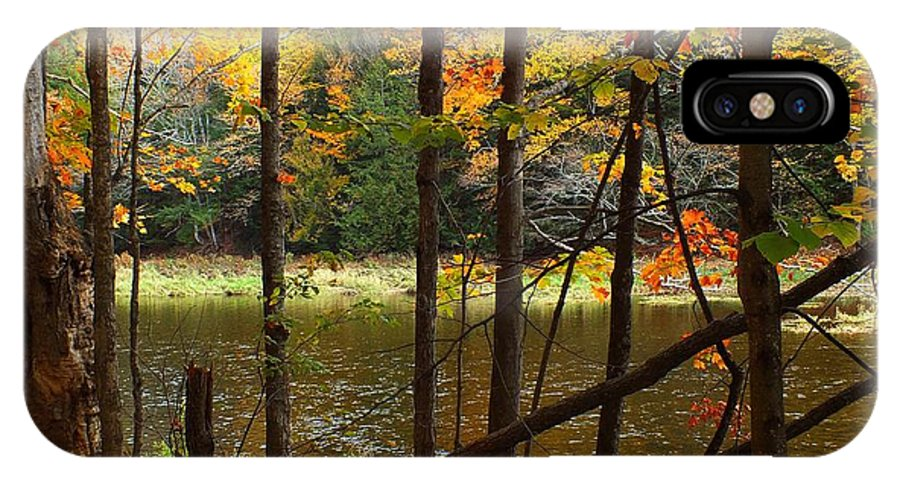New England IPhone X Case featuring the photograph Meduxnekeag River 4 by Gene Cyr