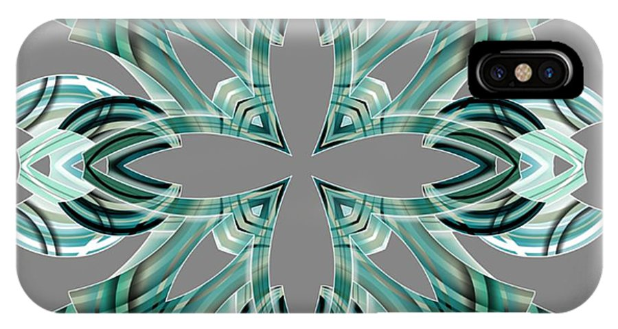 Abstract IPhone X Case featuring the digital art Meeting 16 by Brian Johnson