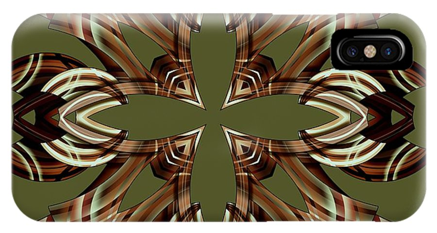 Abstract IPhone X Case featuring the digital art Meeting 19 by Brian Johnson