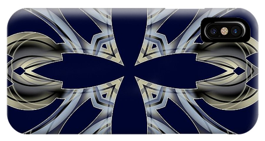 Abstract IPhone X Case featuring the digital art Meeting 24 by Brian Johnson