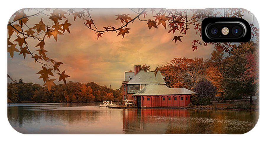 Boathouse IPhone X Case featuring the photograph Meeting At The Lodge by Robin-Lee Vieira