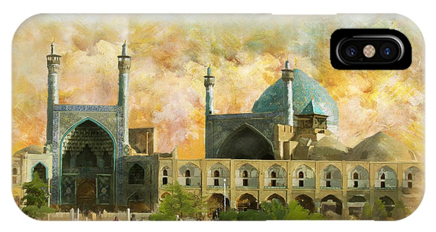 Iran Art IPhone X Case featuring the painting Meidan Emam Esfahan by Catf