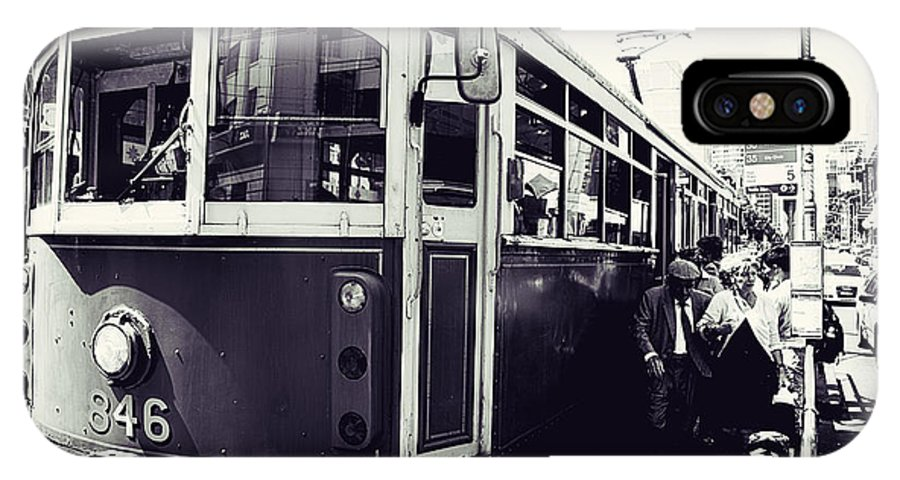Melbourne Tram IPhone X / XS Case featuring the photograph Old Tram In Melbourne by Javier Gomez