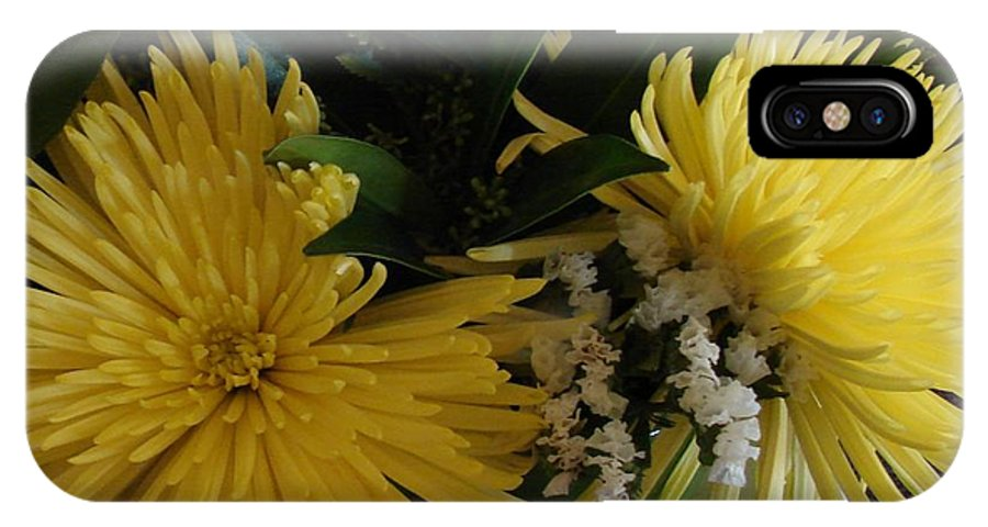 Floral IPhone X Case featuring the photograph Mellow Yellow by Cindy Goshko