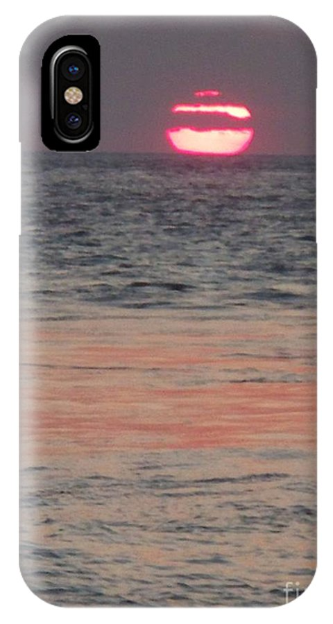 Photography IPhone X Case featuring the photograph Melting Sun Into The Cool Sea by Eric Schiabor