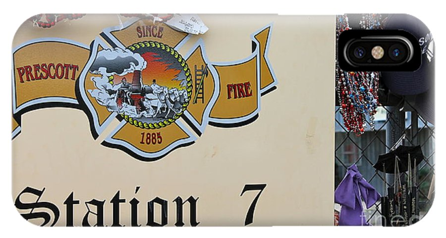 Station 7 IPhone X Case featuring the photograph Memorial 4 by Pamela Walrath
