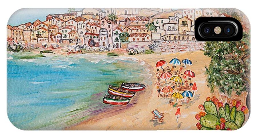 Loredana Messina IPhone X Case featuring the painting Memorie D'estate by Loredana Messina