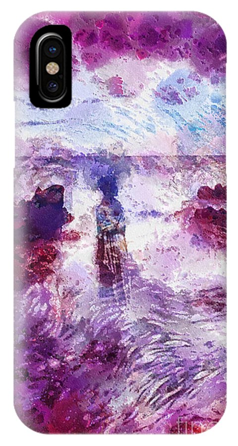 Memories IPhone X Case featuring the painting Memories by Mo T