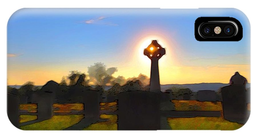 Cemetery IPhone X Case featuring the photograph Memories Shine Through by Rrrose Pix