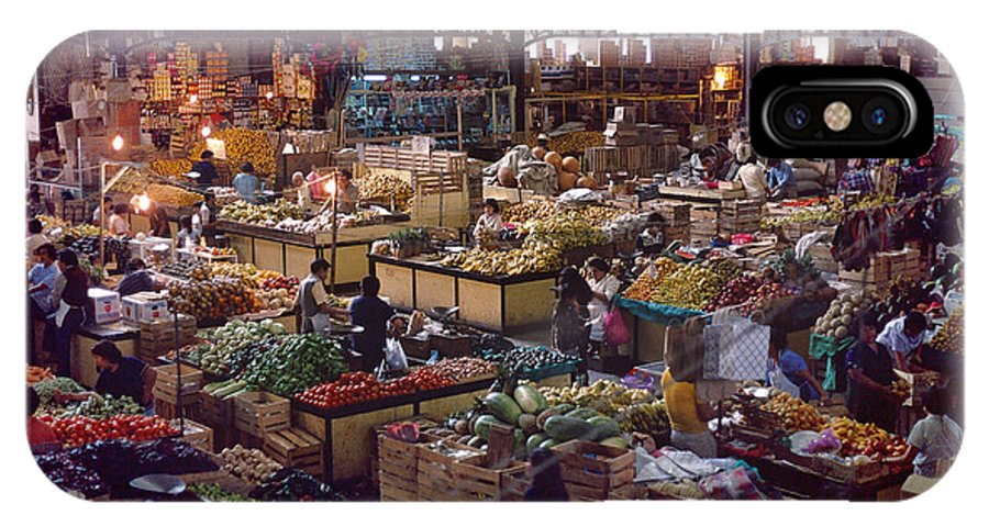 Food IPhone X Case featuring the photograph Mercado Photograph - Mexican Market by Sharon Hudson
