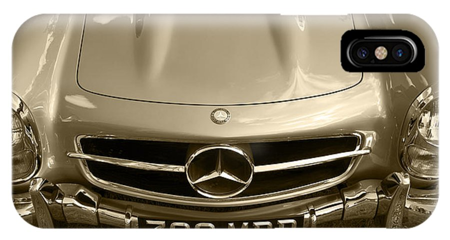 Mercedes Benz IPhone X Case featuring the photograph Mercedes Benz 300 Sl Roadster 1957 by Maj Seda