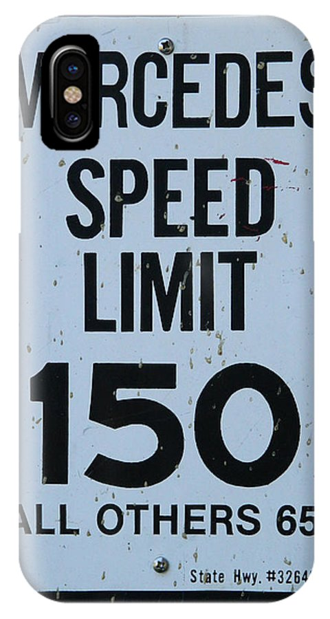 Mercedes IPhone X Case featuring the photograph Mercedes Speed Limit 150 by George Pedro