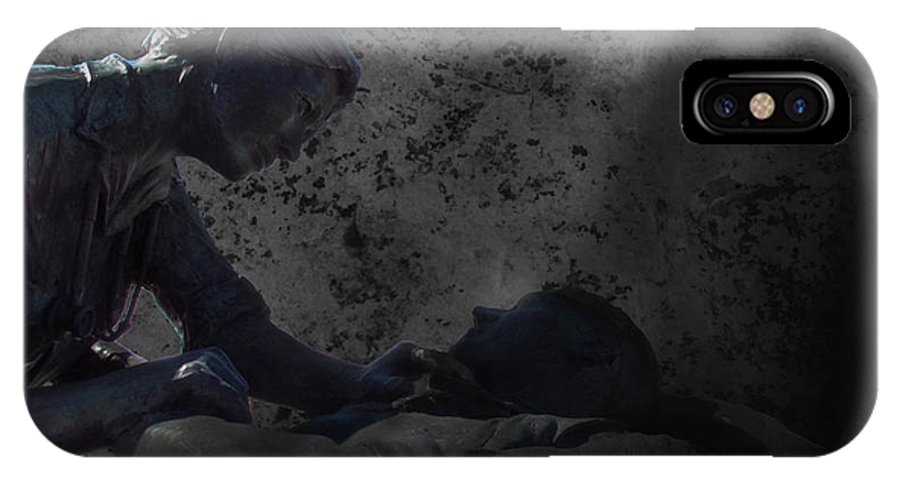 Statue IPhone X Case featuring the photograph Mercy by Brennan Roorda