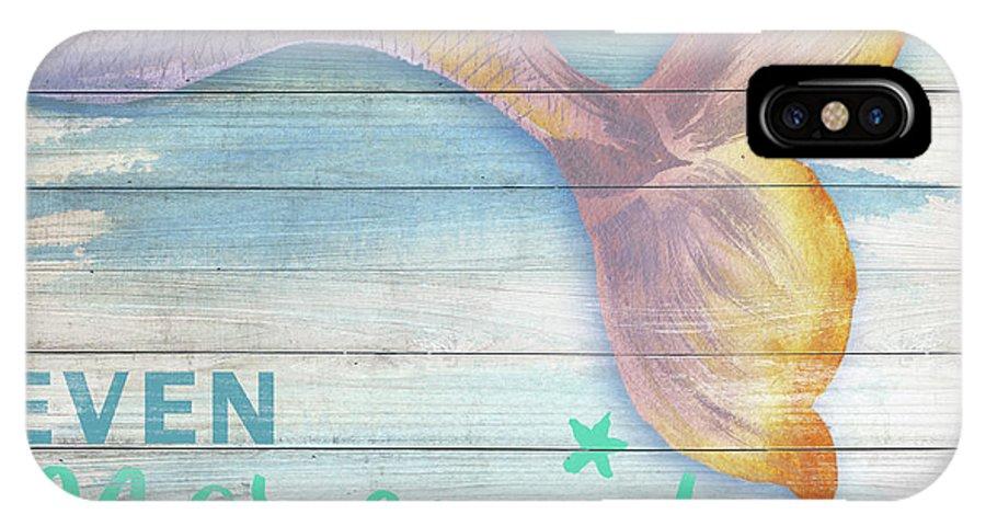 Mermaid IPhone X Case featuring the painting Mermaid Bath II by Elizabeth Medley