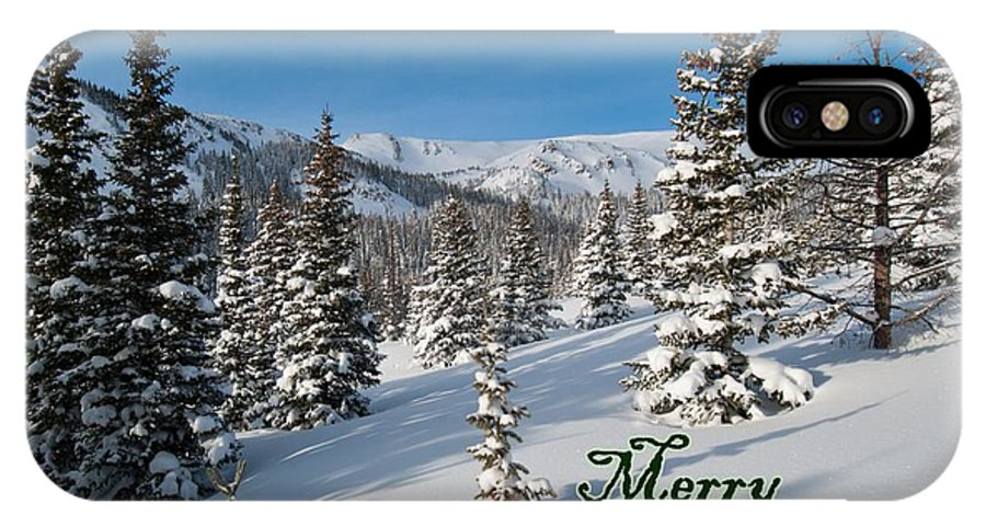 Merry Christmas IPhone X Case featuring the photograph Merry Christmas - Winter Wonderland by Cascade Colors