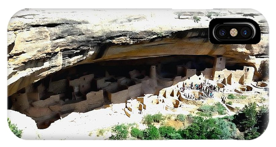 Mesa Verde IPhone X / XS Case featuring the photograph Mesa Verde Cliff Dwelling by Gerald Blaine