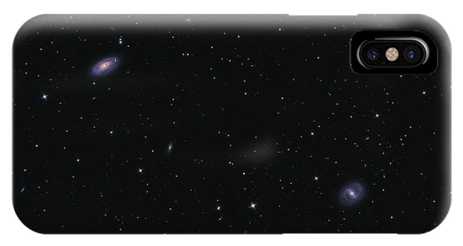 Horizontal IPhone X Case featuring the photograph Messier 88 And Messier 91 by Lorand Fenyes