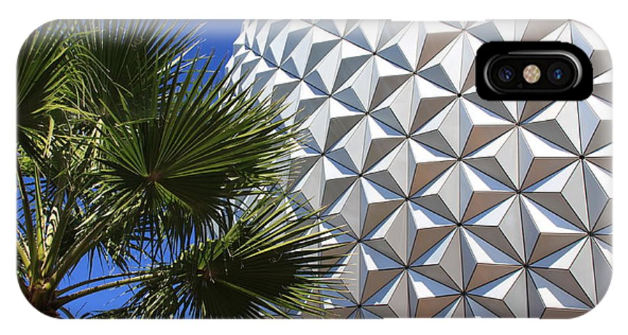 Epcot IPhone X Case featuring the photograph Metal Earth by Chris Thomas
