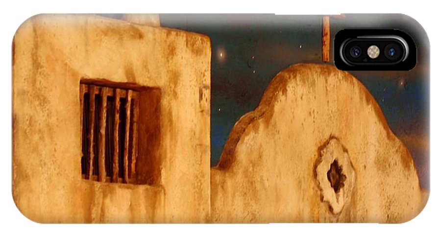 Buildings IPhone X Case featuring the photograph Mexican Night by Terry Fleckney