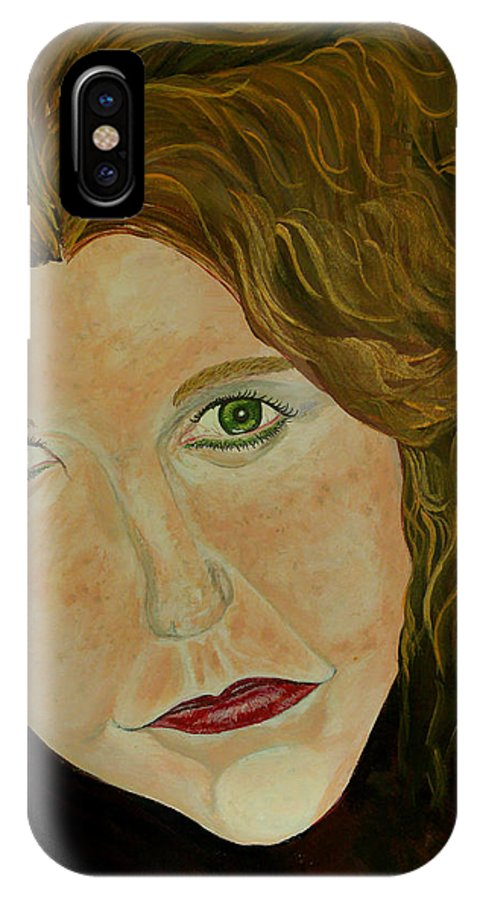 Mi Amore IPhone X Case featuring the painting Mi Amore by Mark Moore