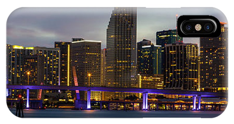 Florida IPhone X Case featuring the photograph Miami Skyline by Stefan Mazzola