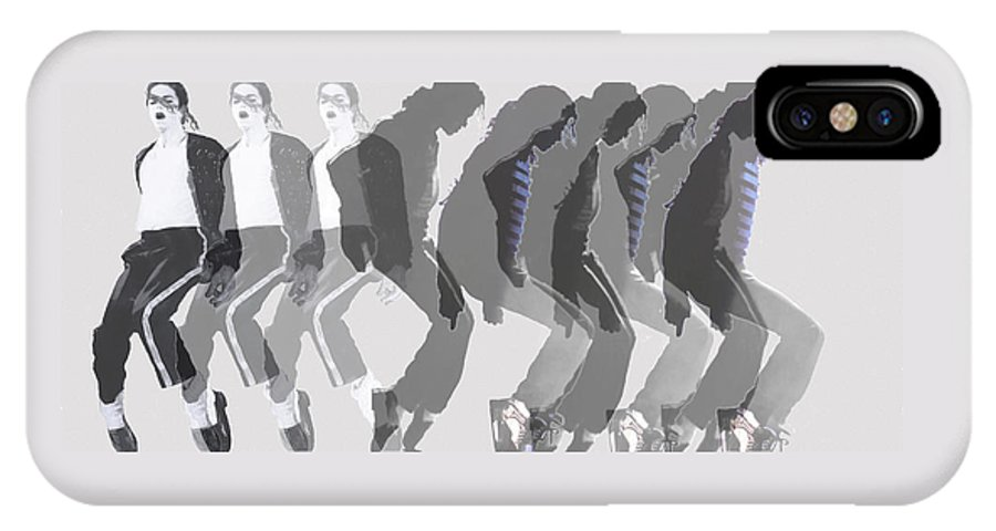 Michael Jackson IPhone X Case featuring the painting Michael Jackson A La Warhol By Dominique Amendola by Dominique Amendola