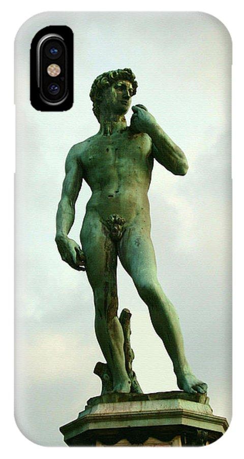 Michelangelos David IPhone X Case featuring the photograph Michelangelo's David 2 by Ellen Henneke